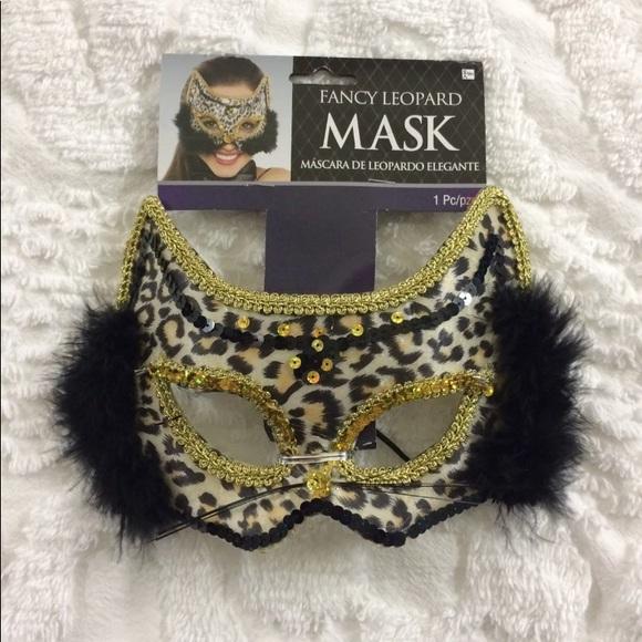 24e9ffff8f3e Other | Fancy Leopard Adult Face Mask Costume | Poshmark